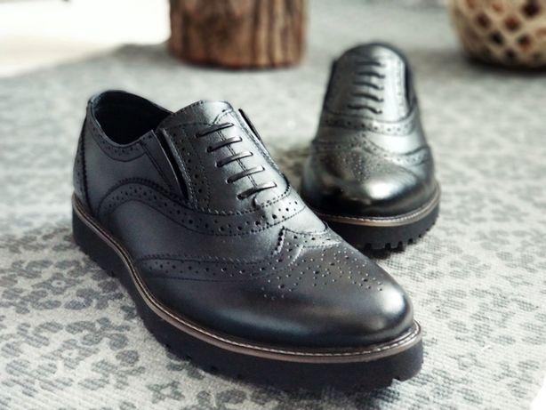 Доставка бесплатно! Ботинки, туфли мужские броги классика