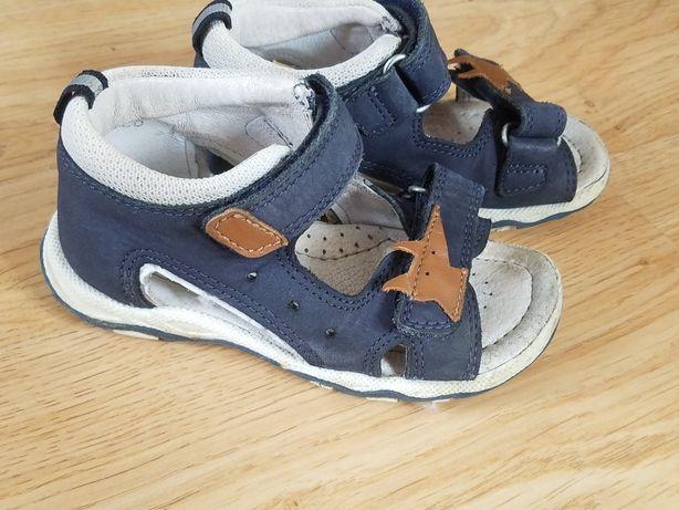 Sandałki sandały Lasocki 24 granatowe brąz