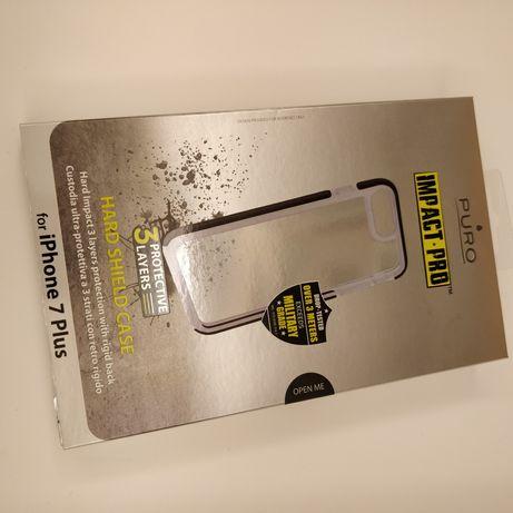 Puro Impact Pro Hard Sheild Case para iPhone 7 Plus ou 8 Plus preta