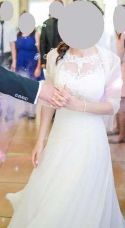 Suknia ślubna 36-38 ecri