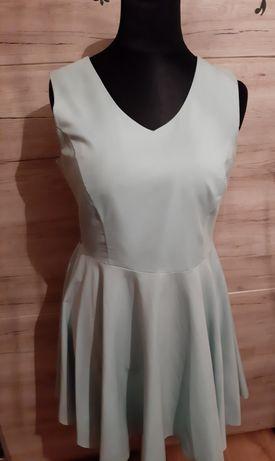 Piękna miętowa sukienka 46