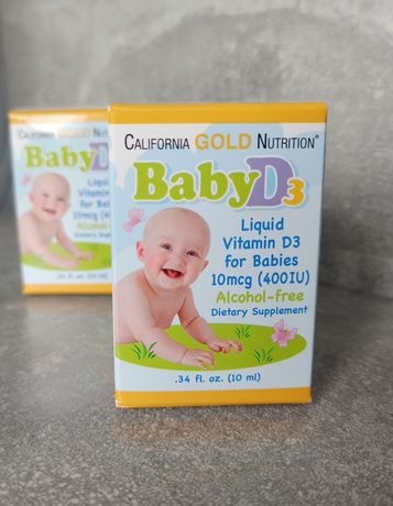 Вітаміни з США, iherb, baby d3 , California gold