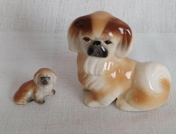 figurka pies psy porcelana ceramika pekińczyk 50 zł
