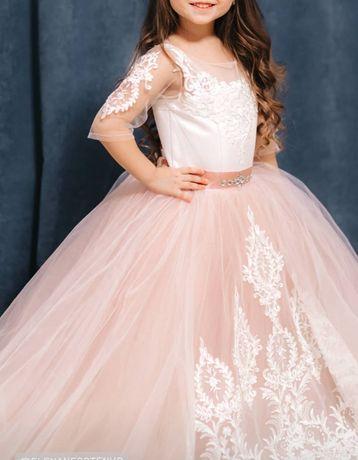 Шикарное Выпускное платье 116 свадебное фатин выпускной