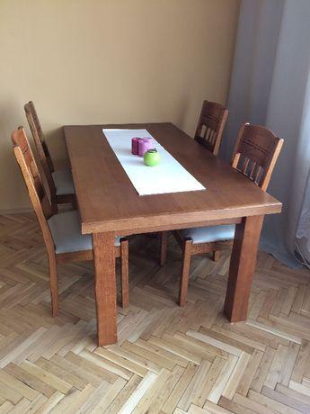 Stół + Krzesła dębowe (8 szt)