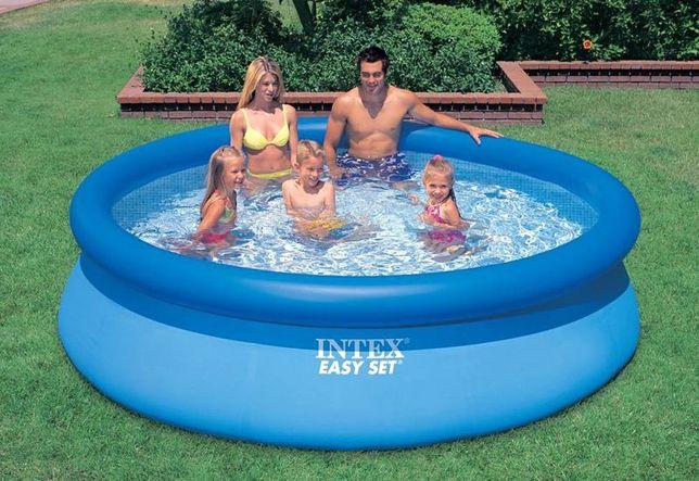 Надувной Семейный бассейн басейн Easy Set Intex 305-76см