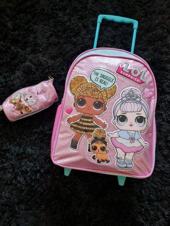 Trolley/mochila e estojo escolar menina LOL