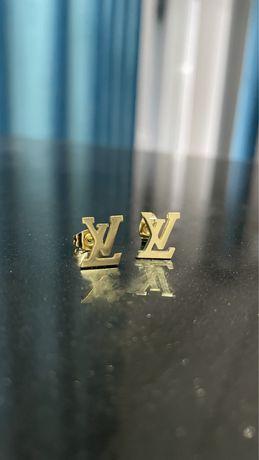 Kolczyki LV Louis Vuitton kolor złoty