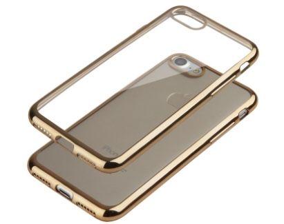 Capa Dourada Transparente Iphone 7/8