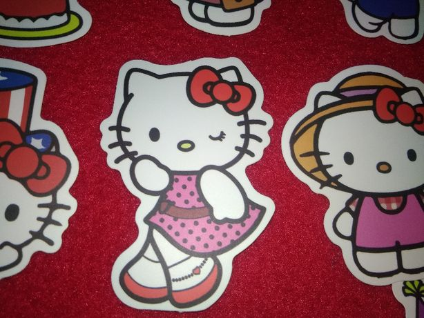 50 sztuk śliczne Hello Kitty naklejki na samochód laptop