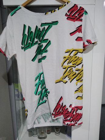 T-shirt męski nowoczesny modny nadruki