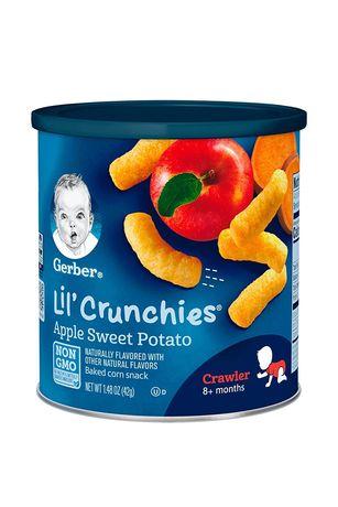 Gerber Crunchies,палочки для малышей от 8м, яблоко и батат, 42г
