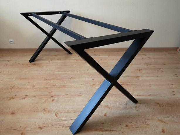 Nogi stołu KSZTAŁT X LOFT POD WYMIAR SOLIDNE stelaż pod blat dębowy