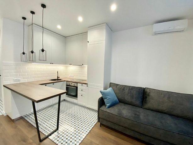 ЖК Каховский,32м2,авторский ремонт, кухня-студио+спальня.