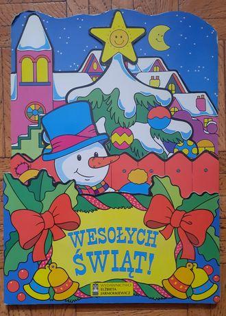 Książeczka ze sztywnymi kartkami  o Bożym Narodzeniu
