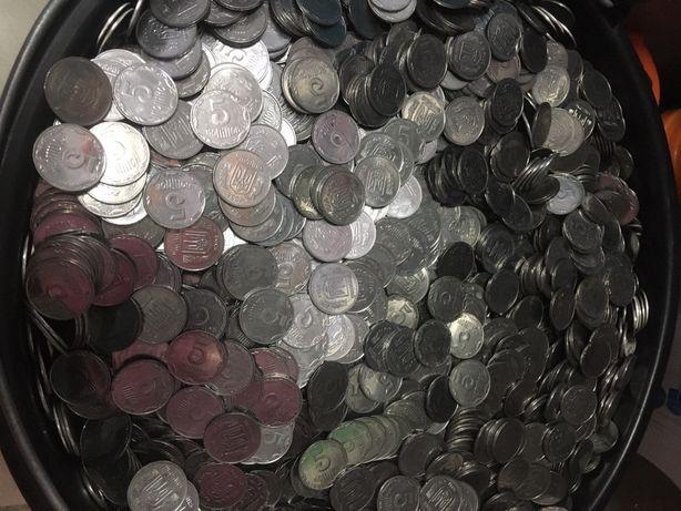 Монеты украины 5/50/25/ 90е года. Бесплатная доставка!