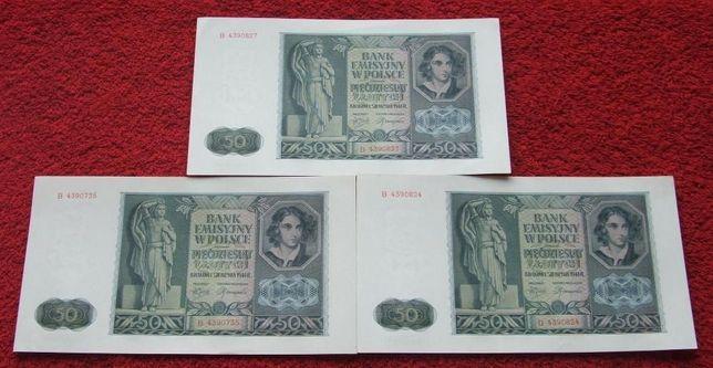 POLSKA 50 ZŁOTYCH 1941 ROK Kolekcjonerski Banknot - 1 sztuka STAN UNC-