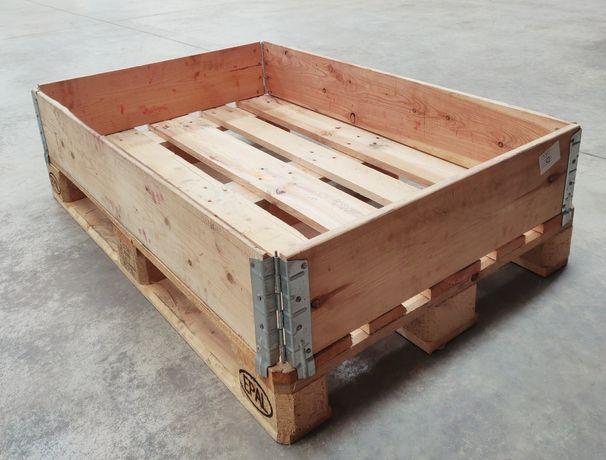 Aros de madeira para sobrepor em palete 120x80cm