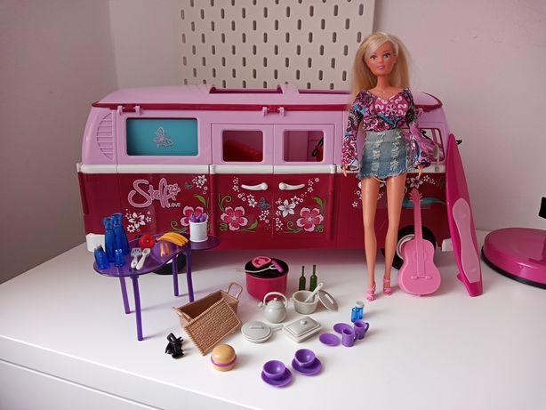 Kamper steffi, barbie, camper dla lalek + akcesoria i lalka