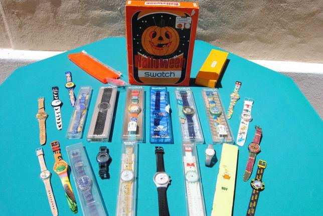 Lote, conjunto de 25 relógios Swatch, edições especiais e limitadas
