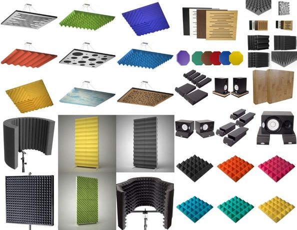 Акустический поролон пирамидка акустические экраны акустические панели