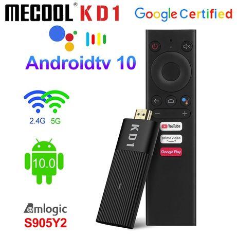 Смарт ТВ стик Mecool KD1 2/16Gb Голосовое управление Android TV 10 Нас