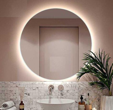 Акция! Зеркало с LED Подсветкой влагостойкое для ванной 550 мм- 975 гр