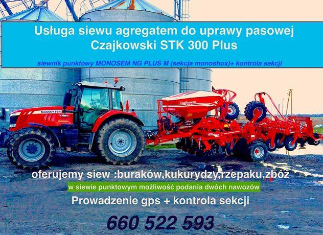 Siew pasowy , uprawa pasowa , strip till , Czajkowski STK 300 Plus