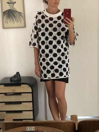 Sukienka niepowtarzalna ażurowa Zara M/L