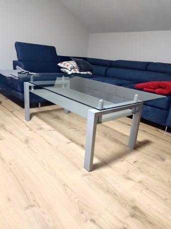 Stolik szklany ława + stolik pod telewizor szklany