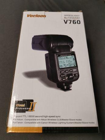 VOELOON Speedlight V760 for Canon - Nowa! + GRATIS