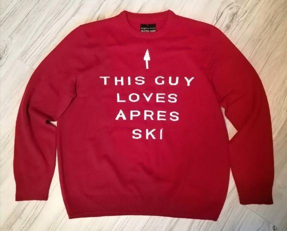 Sweter męski czerwony XXL XL Nowy