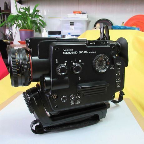 Máquina de filmar Yaschica 50 XL Sound macro 8/mm