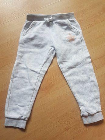 Dresy spodnie dresowe szare rozmiar 92