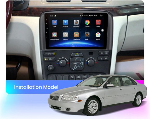 Radio nawigacja Volvo S80 1998=2006 Android 9.0 WiFi Bluetooth GPS