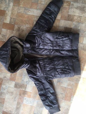 Куртка на мальчика осень- теплая зима 4-5 лет