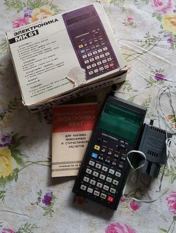 Калькулятор Электроника мк61