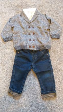 Zestaw koszula, spodnie i sweterek Cool Club r 80