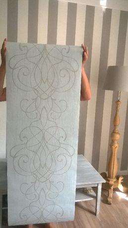 Tapety winylowe BN Wallcoverings szaro-beżowe, 6 rolek
