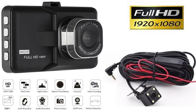 Wideorejestrator jazdy DVR DUAL FULL HD 1080P PL Menu