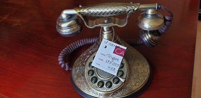 Telefon stacjonarny, mosiężny, styl - antyk, nowy