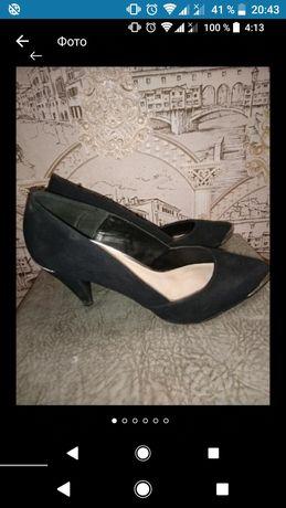 Туфли лодочки чёрные 40