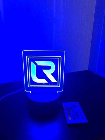 Candeeiro led RGB Personalizável