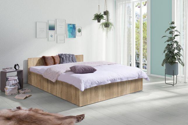 Sypialnia Nowe Łóżko z Materacem 160x200 Kompletne 4 kolory Wysyłka