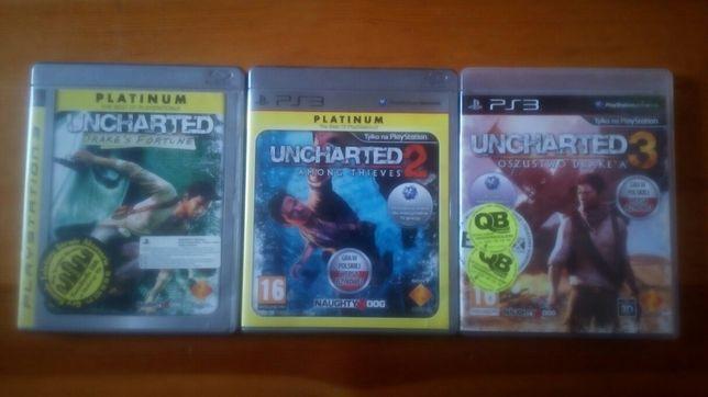gry ps3, gra Uncharted 1,2,3 (zestaw)