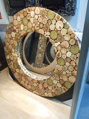 Espelhos em madeiras Naturais por medida