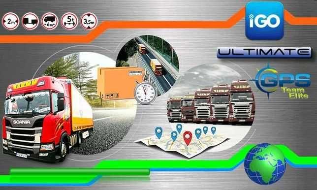 Nawigacja GPS 7 cali iGO_Primo Truck mapy Europe Here i TomTom