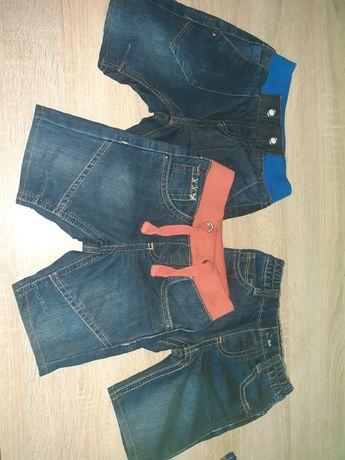 Spodenki jeans 92 3szt