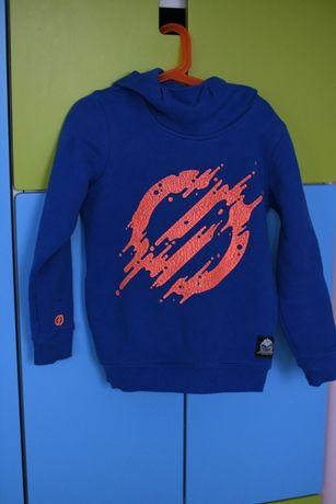 cocodrillo bluza dla chłopca 128 z kapturem niebieska