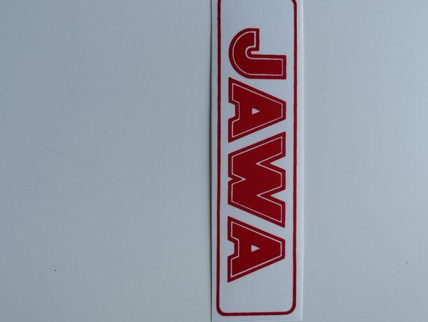 Naklejka JAWA zbiornika czerwona